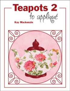 Teapots 2 to applique by Kay Mackenzie