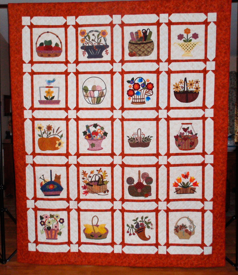Basket Quilt by the SSAS,  80 x 100